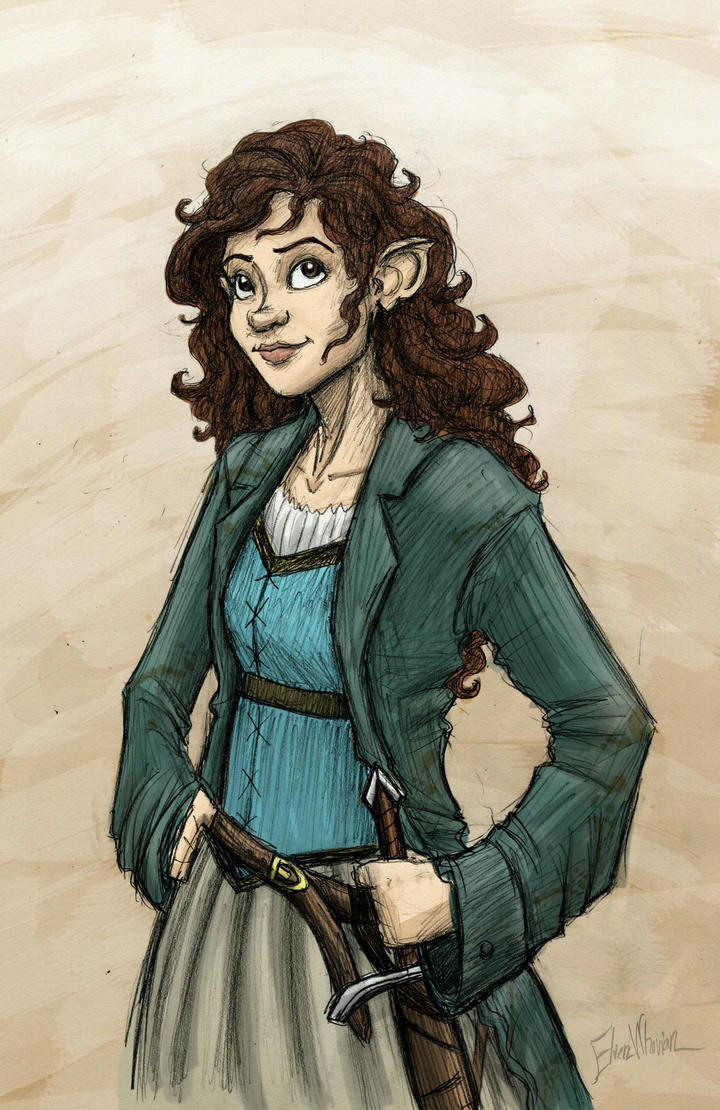 Female Hobbit Drawing ...