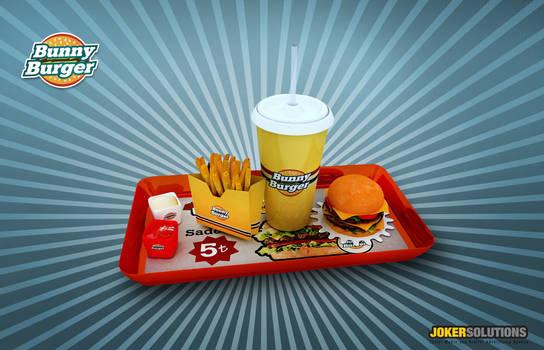 Bunny burger 3D