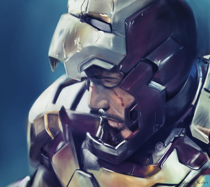 Iron Man 3 - more detail by speedy-painter