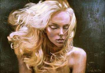 golden hair by speedy-painter