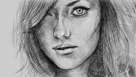Olivia - digital sketching by speedy-painter