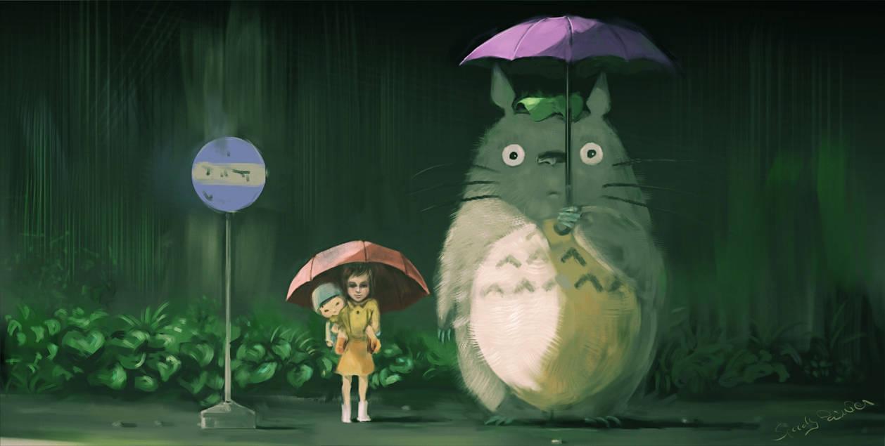 My Neighbor Totoro Bus Stop Scene V2 By Speedy Painter On