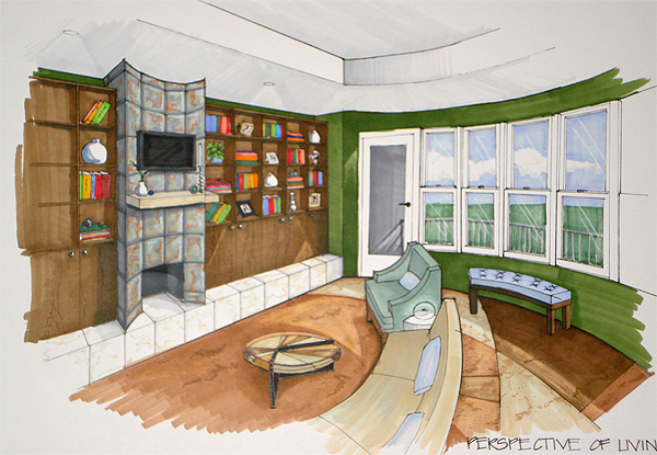 Living Room Perspective By Avarielgirl On Deviantart