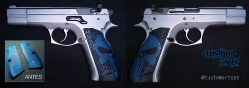 Customized cz shadow pistol grip