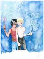 Draco Harry Watercolor by Evilwarlordgu
