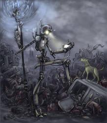 Junkyard Golem by oraclestudios