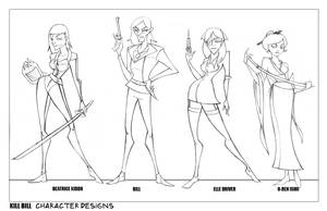 Kill Bill Character Designs by oraclestudios