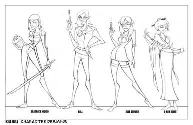 Kill Bill Character Designs by oraclestudios