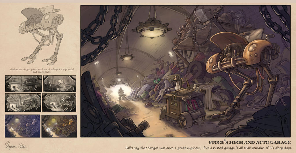 Stoge's Garage by oraclestudios