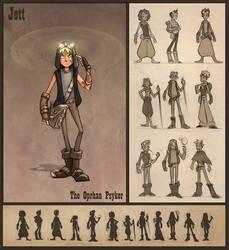 Jett, The Oprhan Psyker by oraclestudios