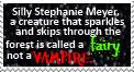 Silly Stephanie Meyer stamp by piratekit