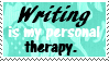 Writing stamp by piratekit