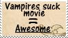 Vampires suck movie stamp by piratekit