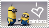 love minions stamp by piratekit