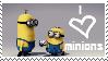 love minions stamp by piratekit