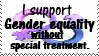 Gender equality stamp by piratekit
