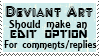 DA edit option stamp by piratekit