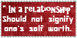 Self worth stamp by piratekit