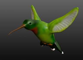 Digital Sculpture - Hummingbird