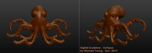 Digital Sculpture - Octopus