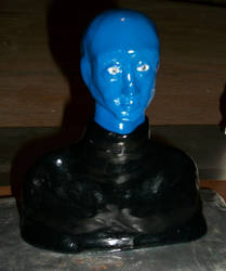 Blue Man Bust - Completed 2018