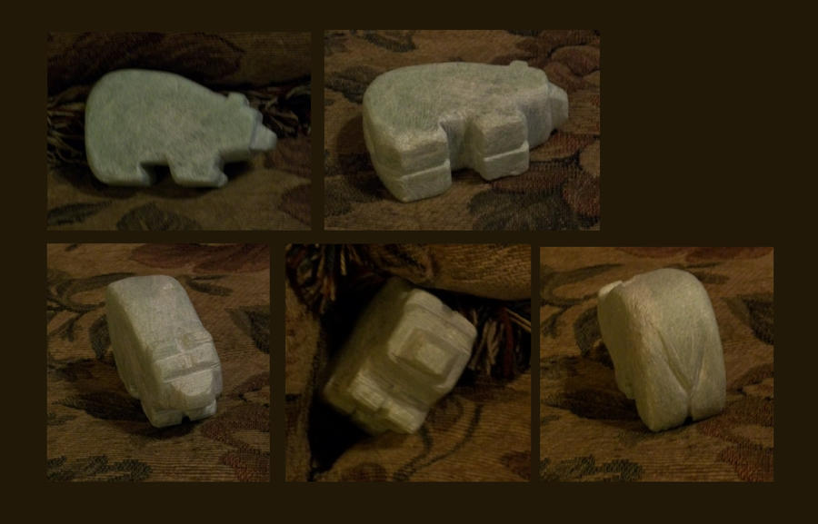 Rs Green Soapstone Bear (Progression Pic)