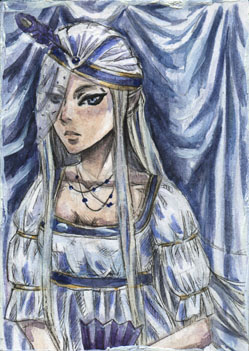 Irene for LadyFanhir ACEO by AngieVX
