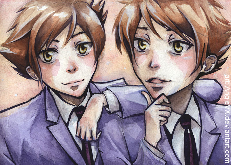Ouran High School Host Club Twins for Haru by AngieVX