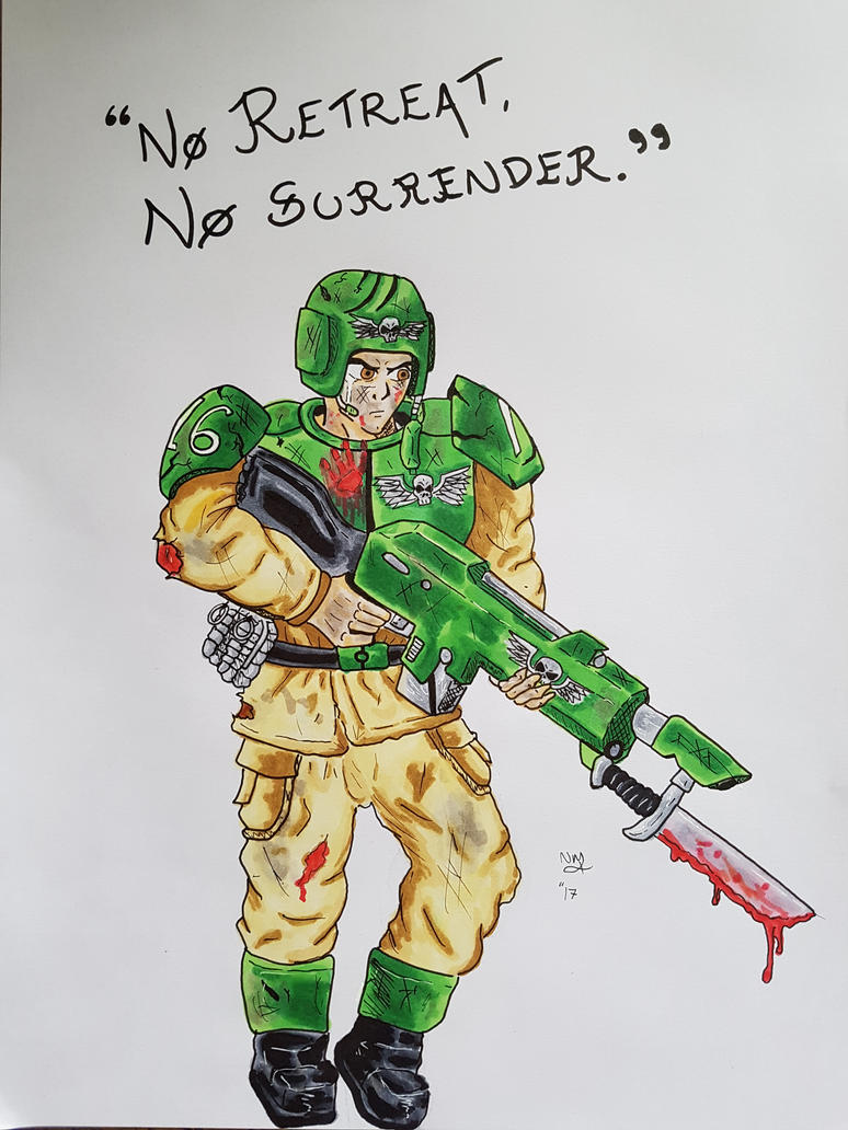 Warhammer 40k - Imperial Guardsman - Ink Markers by 00Hellsing00