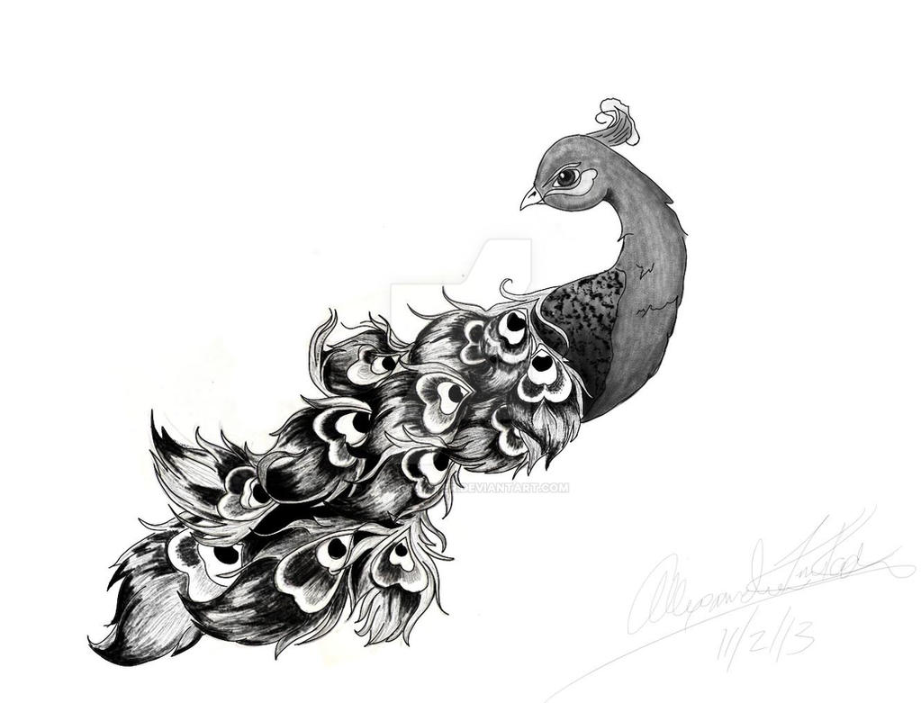 Peacock Tattoo Design by captkinkster on DeviantArt