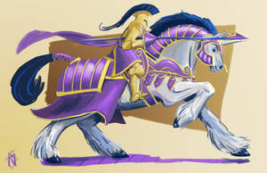 Shining Armor Jouster by Dranoo