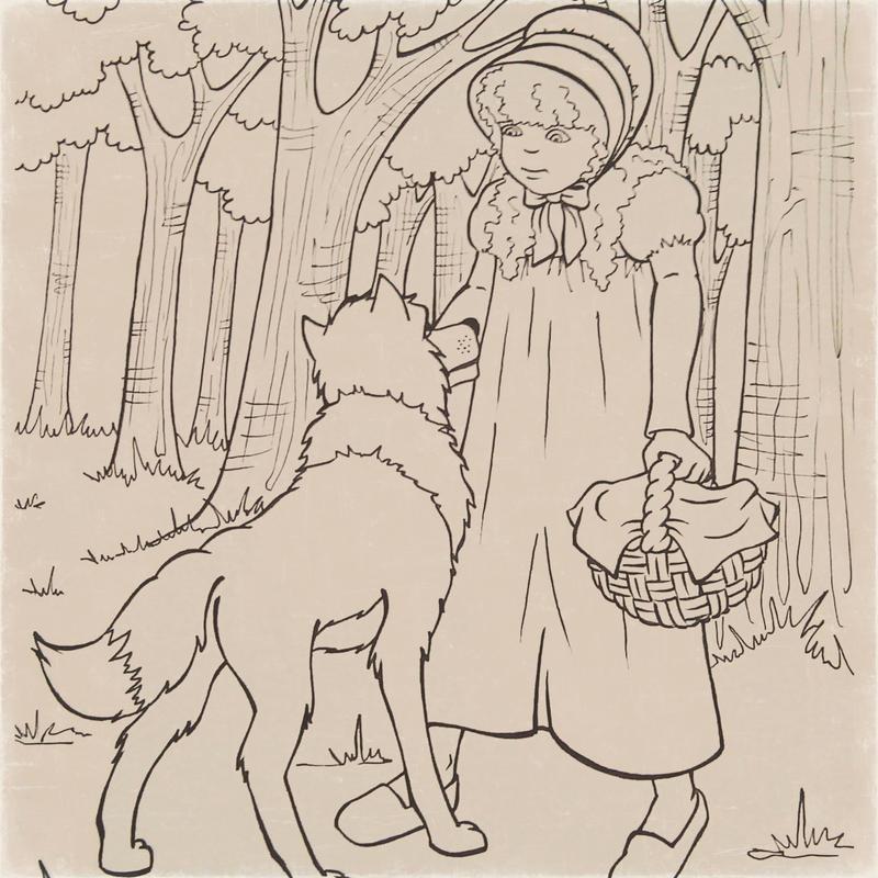 Red Riding Hood (Scufita rosie 1) by ILONNA