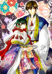 The Prince of tennis : Pillar pair in Kimono