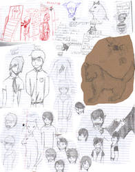 School doodles by otakuist