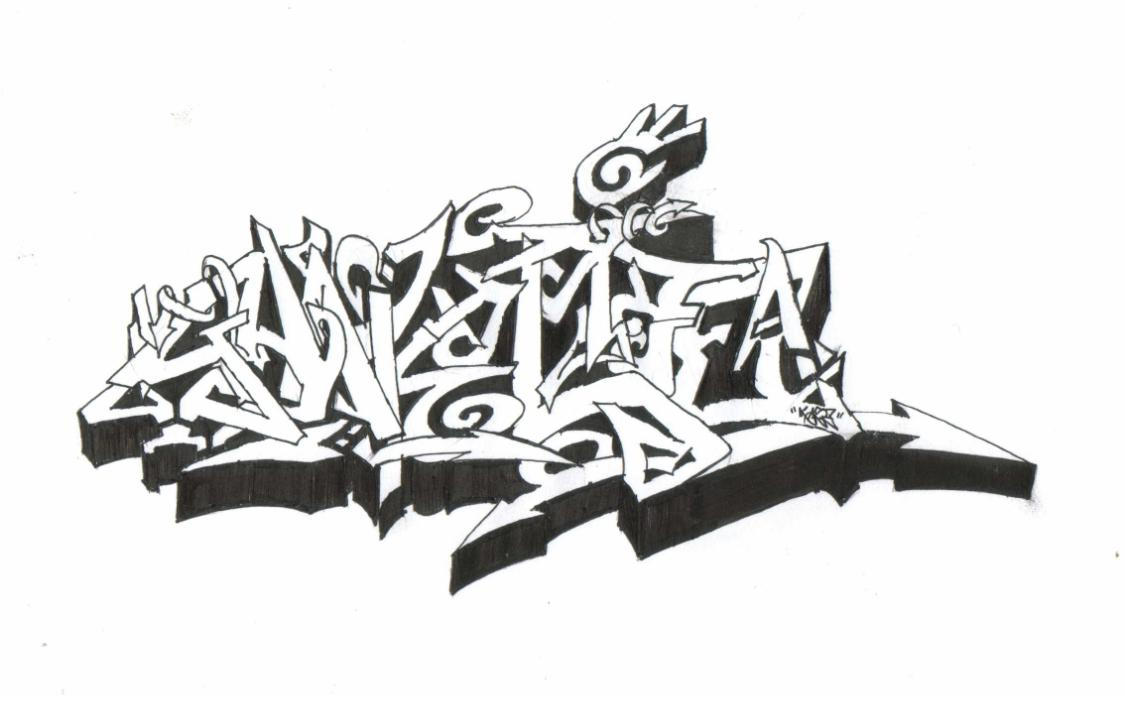 the gallery for gt graffiti throwie alphabet