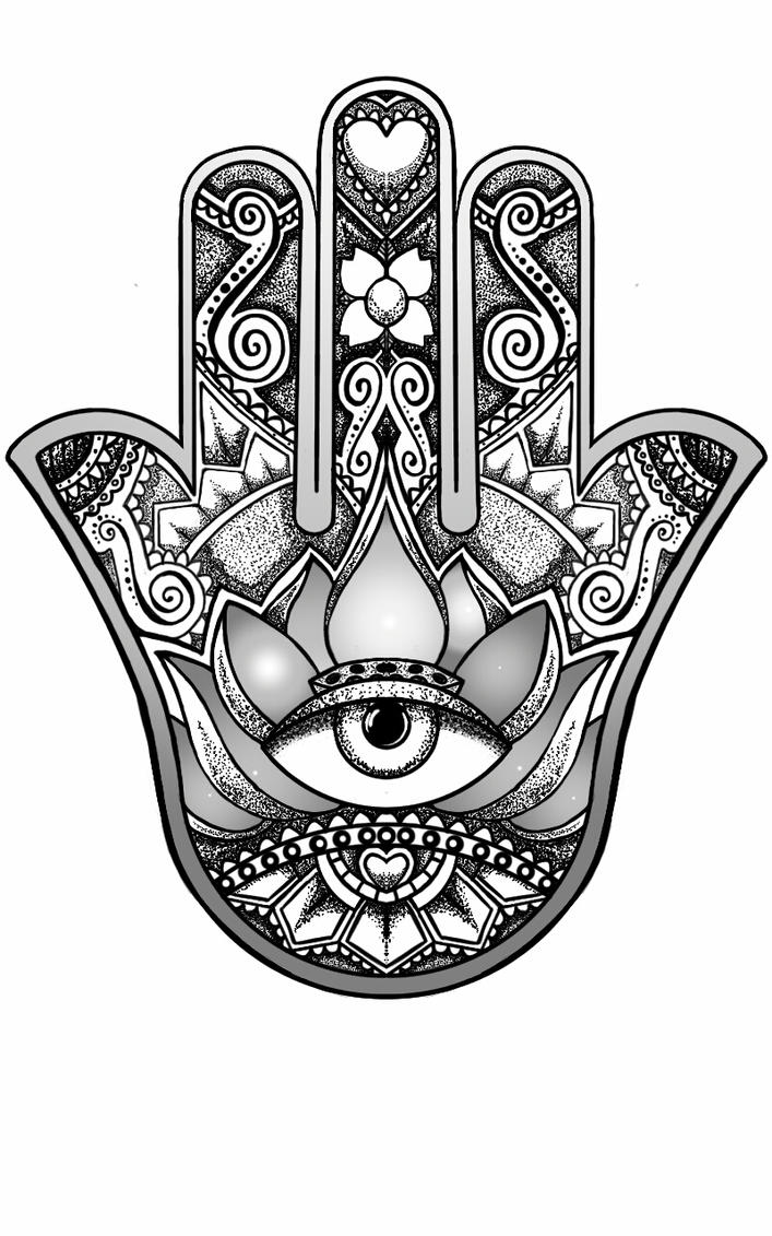 Hamsa Hand Design By Andywillmore
