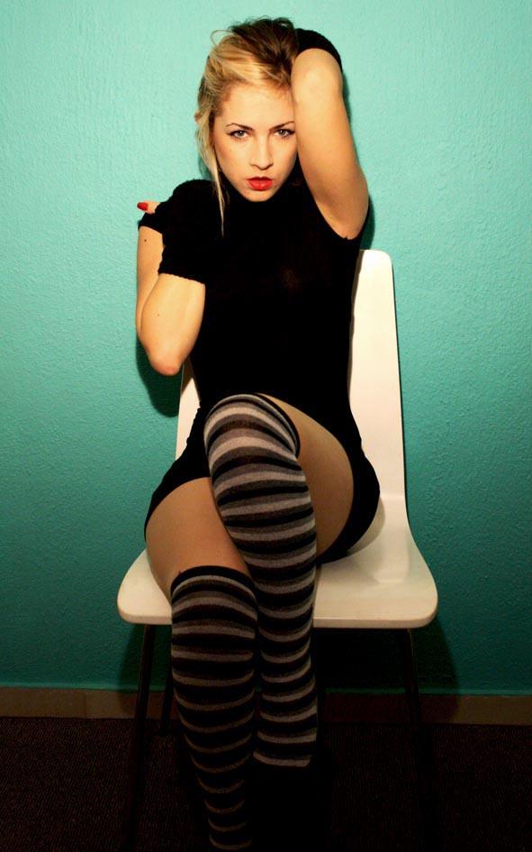 stripy high stockings by staikou