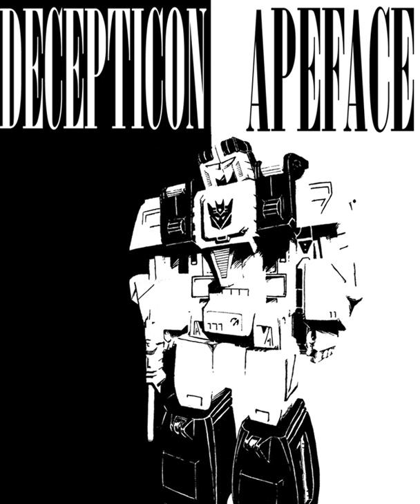 Decepticon Apeface by psychomud