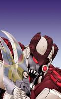Dinobot II vs Depthcharge by psychomud