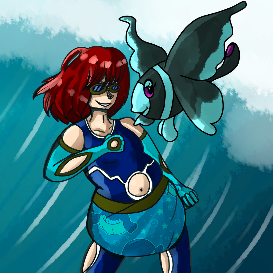 Team Aqua Admin Olly Wants to Fight! by fearbronze