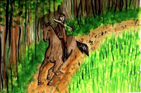 Contest--equestriad, horseback archery by SageFillyLuna