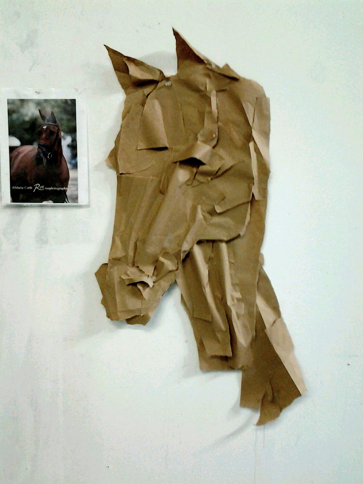 Manipulated Paper--Horse Bust by SageFillyLuna
