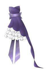 Purple prom dress :coloured
