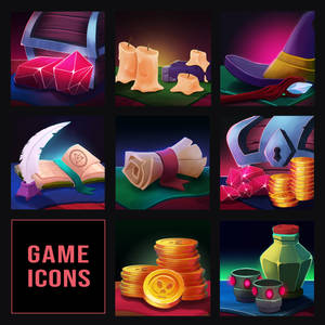 Icons for Magic Game