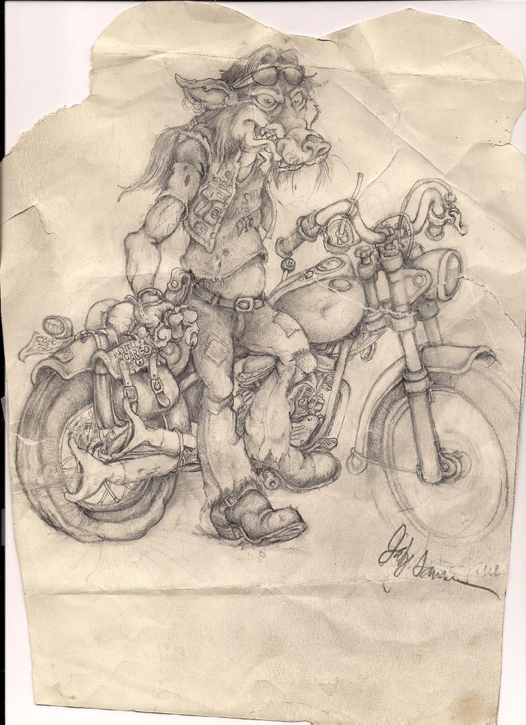 Biker Wolf by Nayikee
