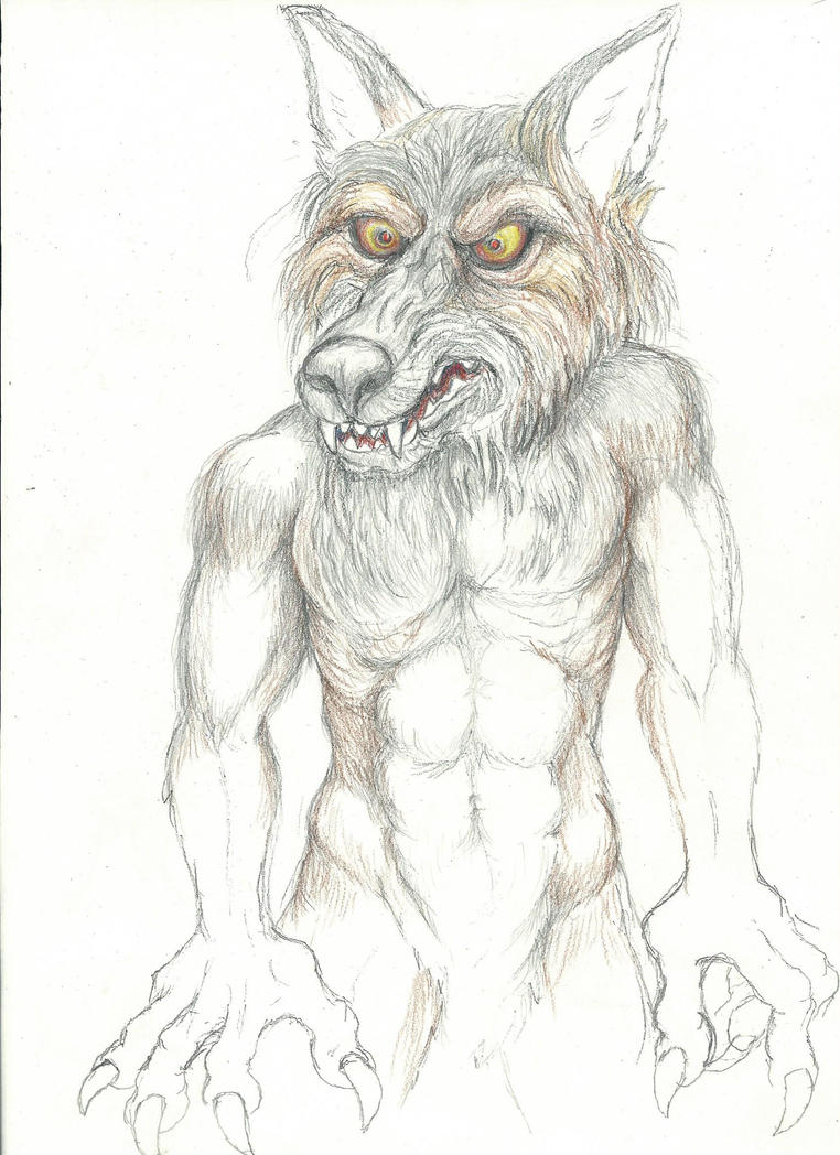 New progress on werewolf W.I.P. by NevadaCoyotle
