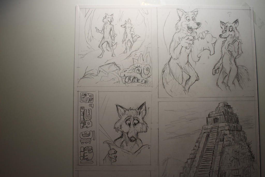 Wolf and Fox's Yucatan Adventure by Nayikee