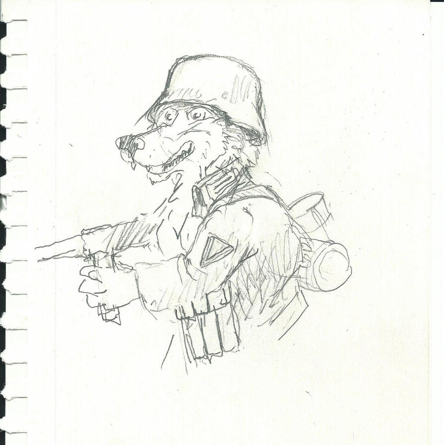Wehrmacht Wulf  in the Battle of Stalingrad by Nayikee