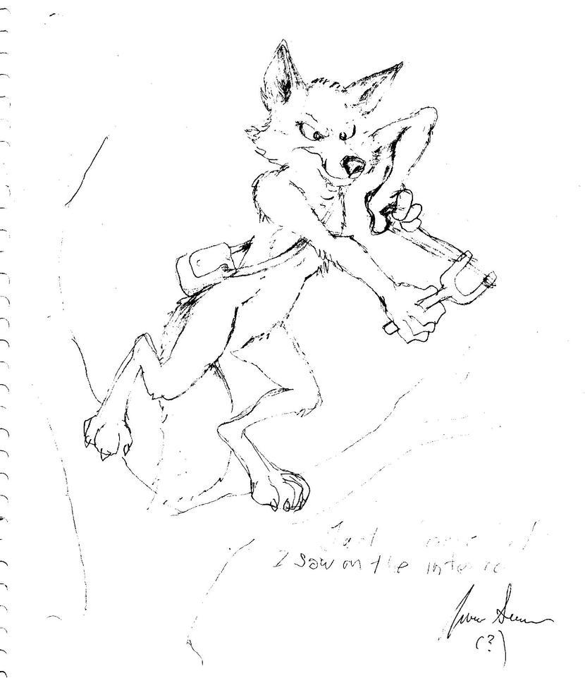 Foxy's gonna GIT YA!!!! by CosmoCoyote