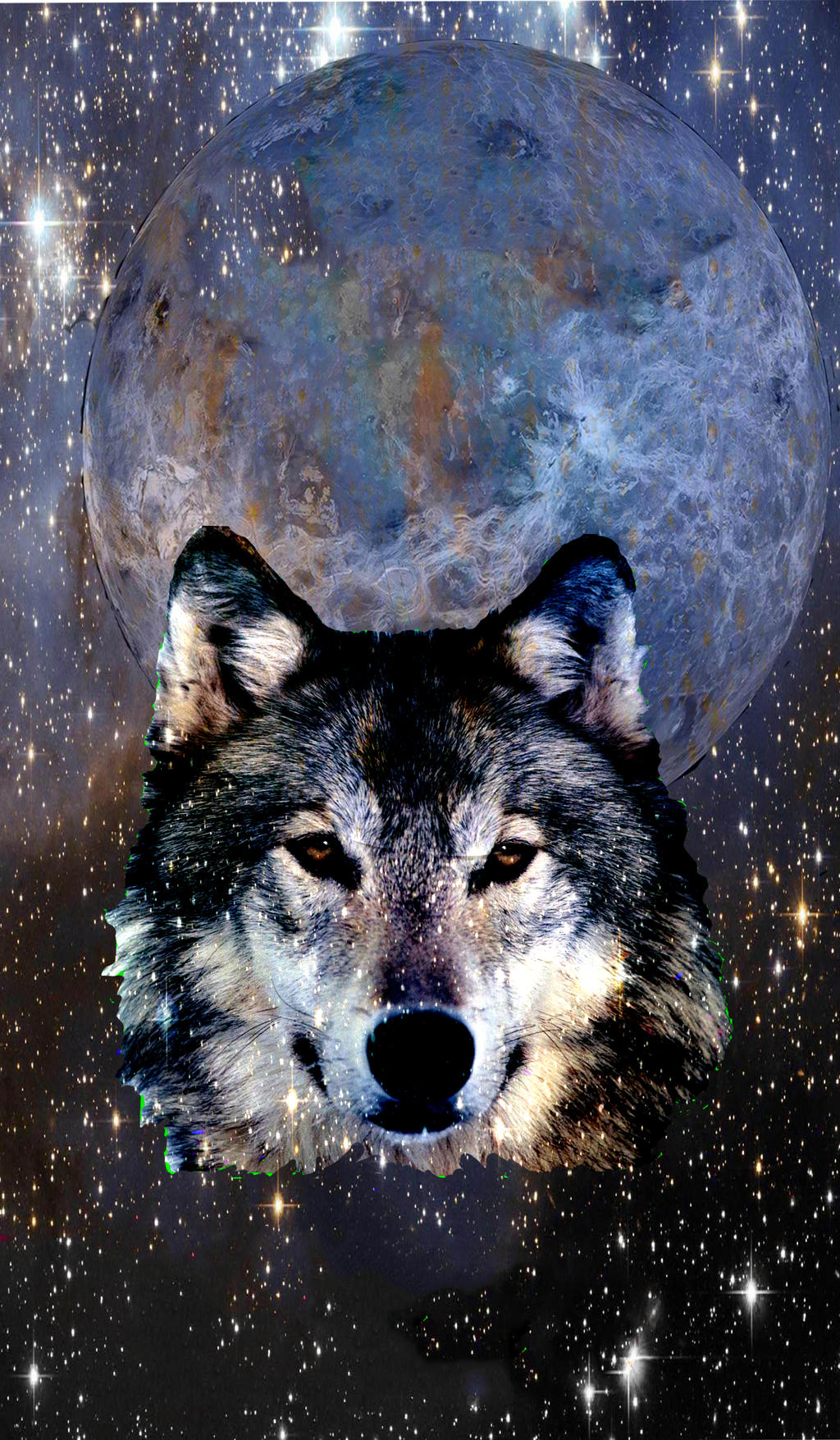 Cosmic Wolf by Nayikee